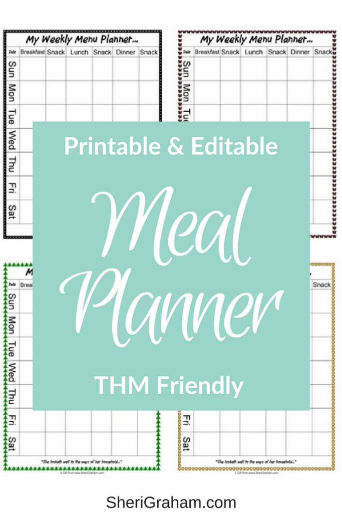 A variety of menu planning forms.