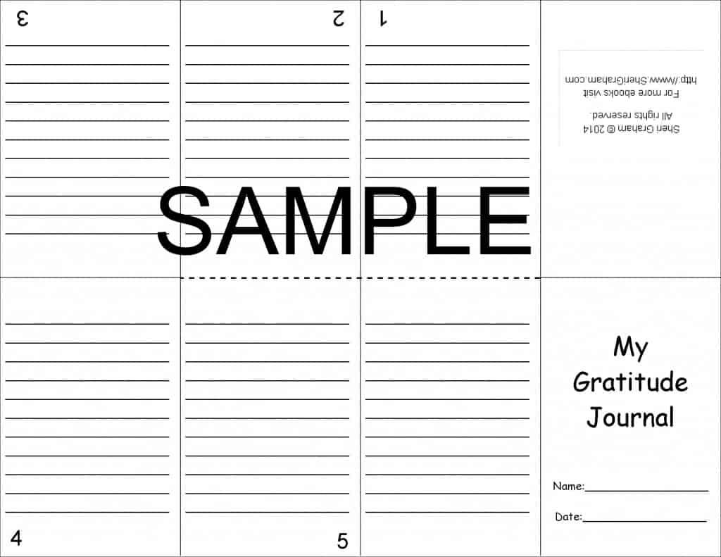 Gratitude Journal Mini Book