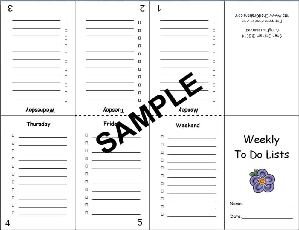 Mini To Do Lists - sample2
