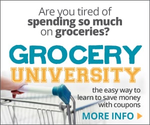 Learn how to save money on groceries with Grocery University!