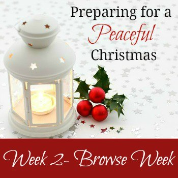 Preparing for a Peaceful Christmas {Week 2}