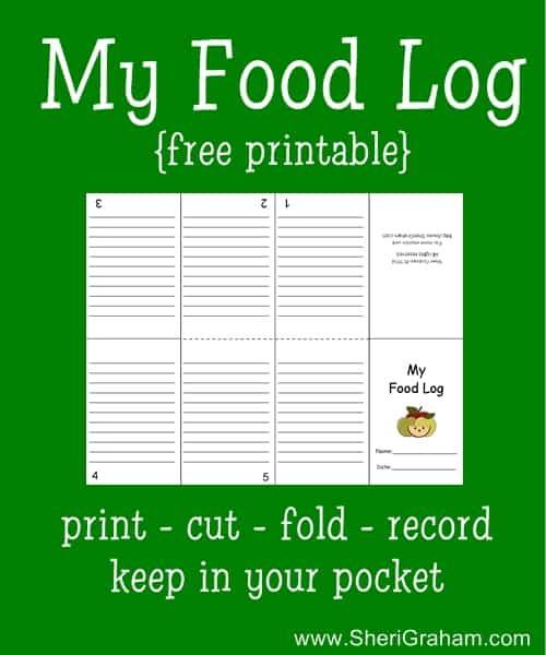 Keeping a food log free printable sheri graham for Keeping a food diary template