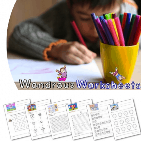 Wondrous Worksheets - 1 Yr. Sub. for only $5