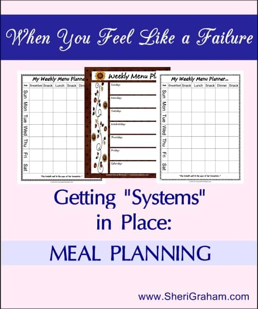 Getting Systems in Place: Meal Planning