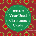 Donate Your Used Christmas Cards