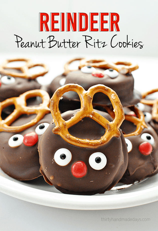 Peanut Butter Ritz Reindeer + More Fun Christmas Food Fun!