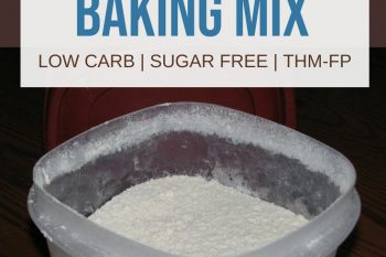 Gluten-free baking mix in a container