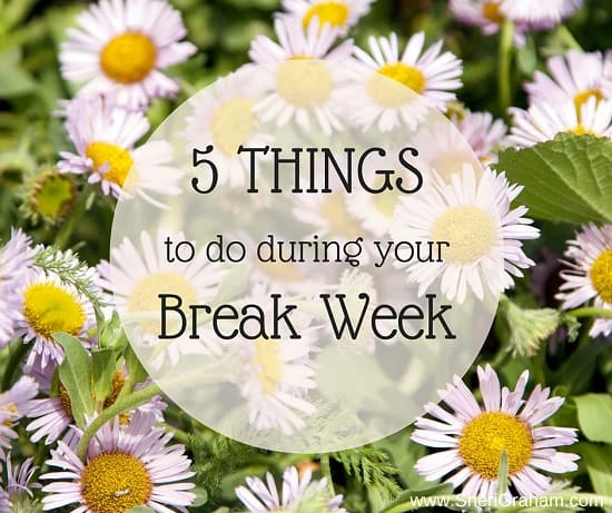 5 Things To Do During Your Break Week