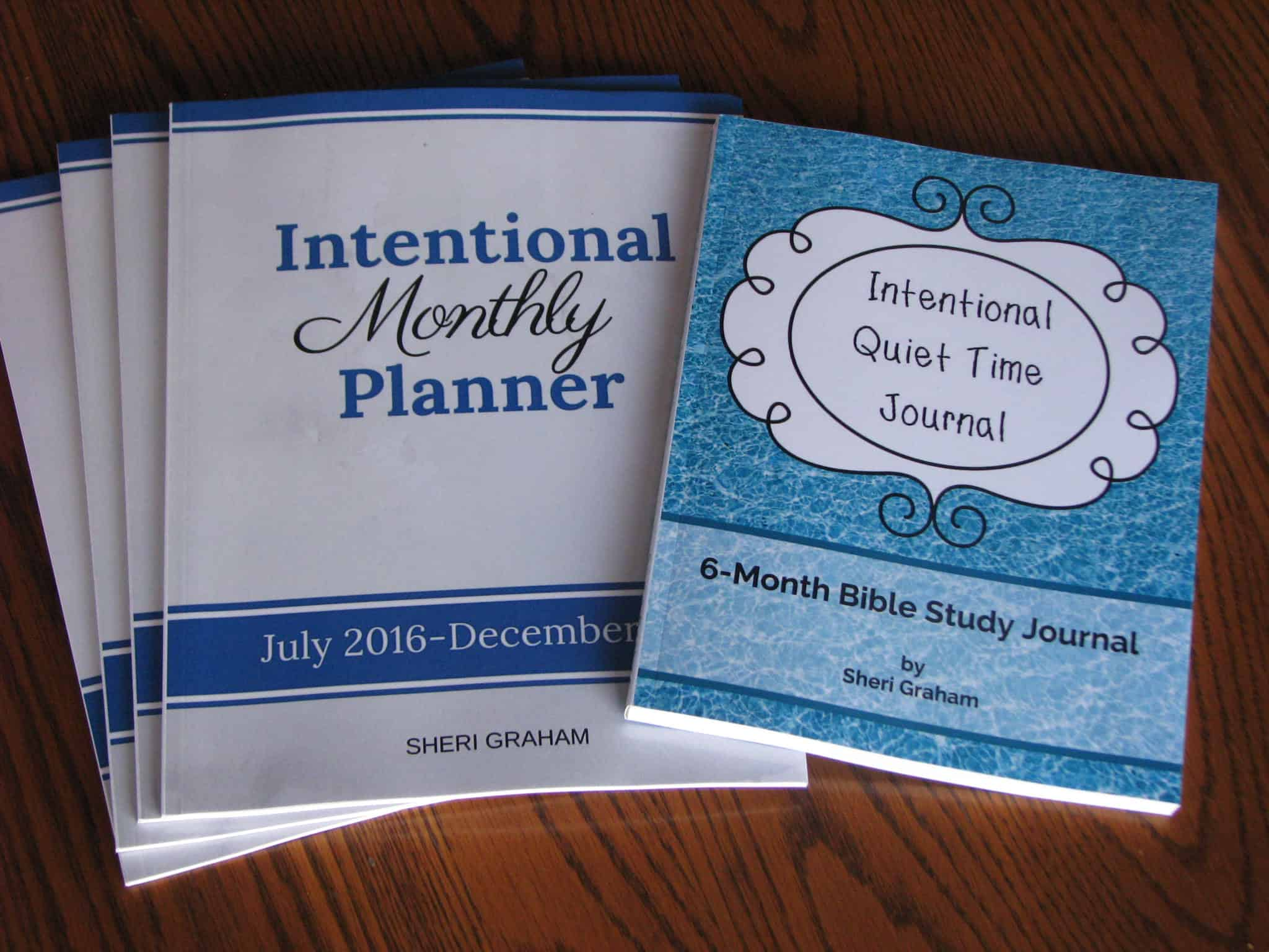 Intentional Quiet Time Journal and Intentional Monthly Planner
