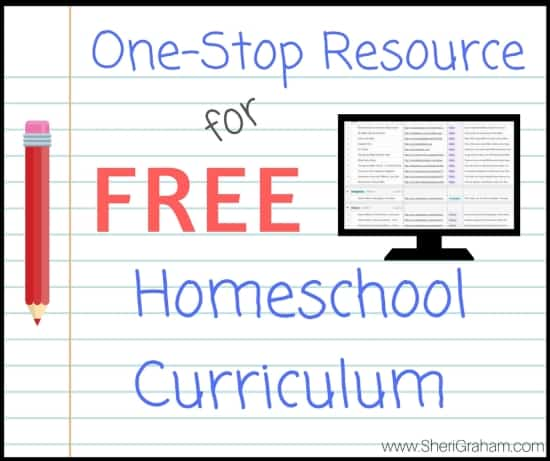 One-Stop Resource for FREE Homeschool Curriculums
