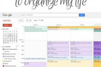 Picture of google calendar