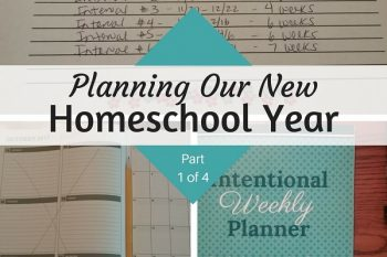 Planning Our New Homeschool Year (Part 1 of 4)