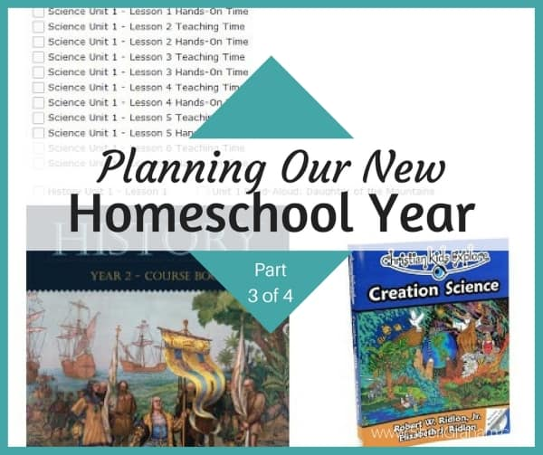 Planning Our New Homeschool Year Part 3