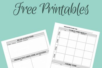Planning a New School Year {Free Homeschool Planning Forms}