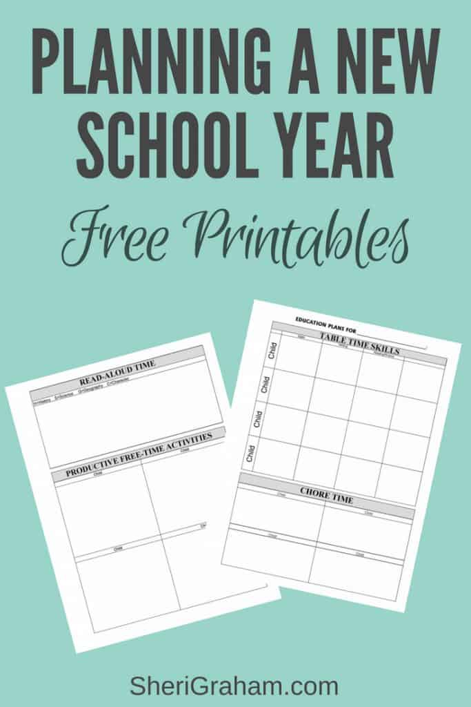 Planning a New School Year {Free Homeschool Planning Forms} - Sheri ...