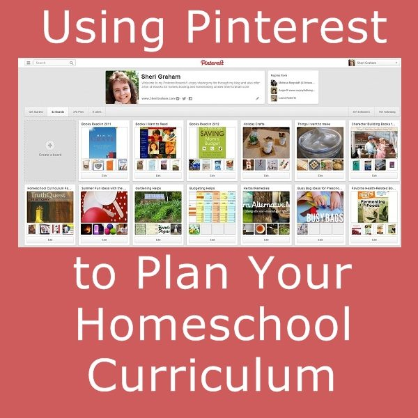 Using Pinterest to Plan Your Homeschool Year